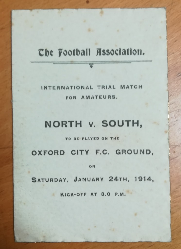 North vs South International Trial Itinerary - January 1914