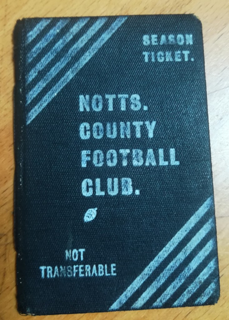 Notts County 1911-12 Season Ticket