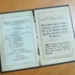 Notts County 1911-12 Season Ticket - Inner