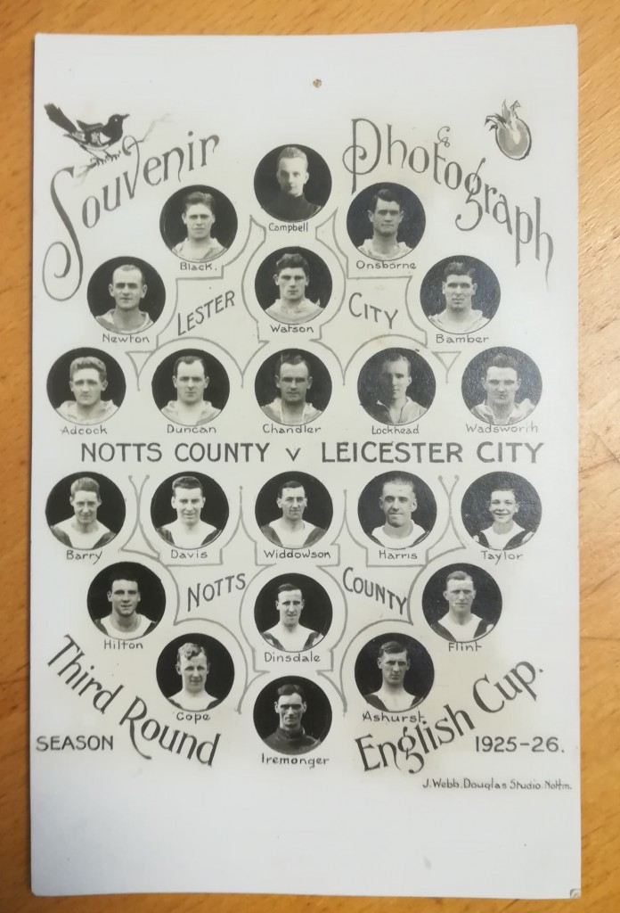 Notts County vs Leicester City FA Cup Souvenir 1925-26