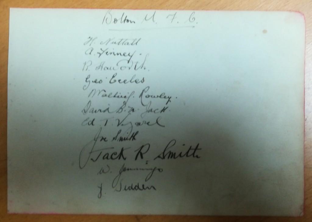 Bolton Wanderers 1920s Autographs
