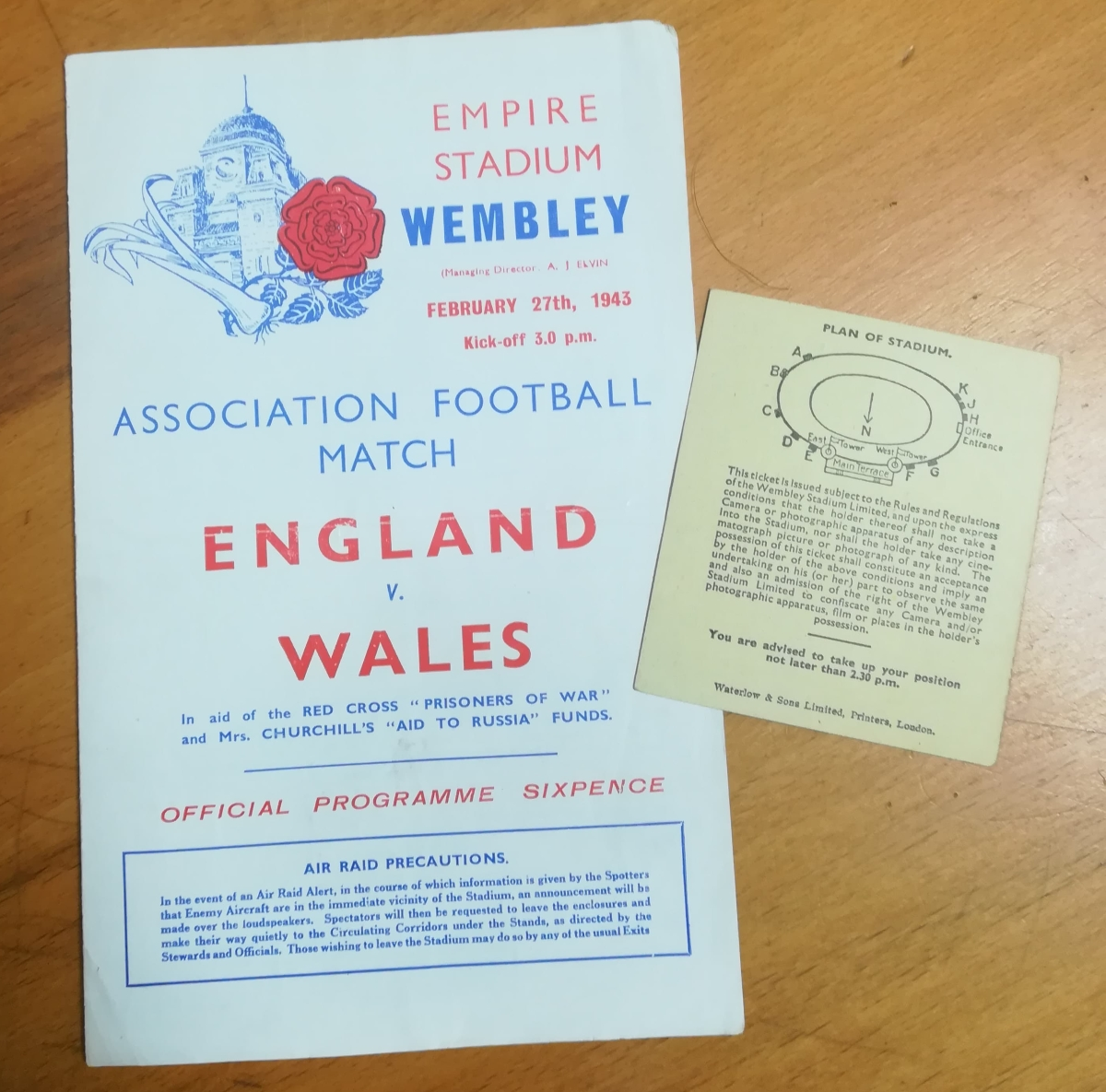 Wartime football memorabilia collector