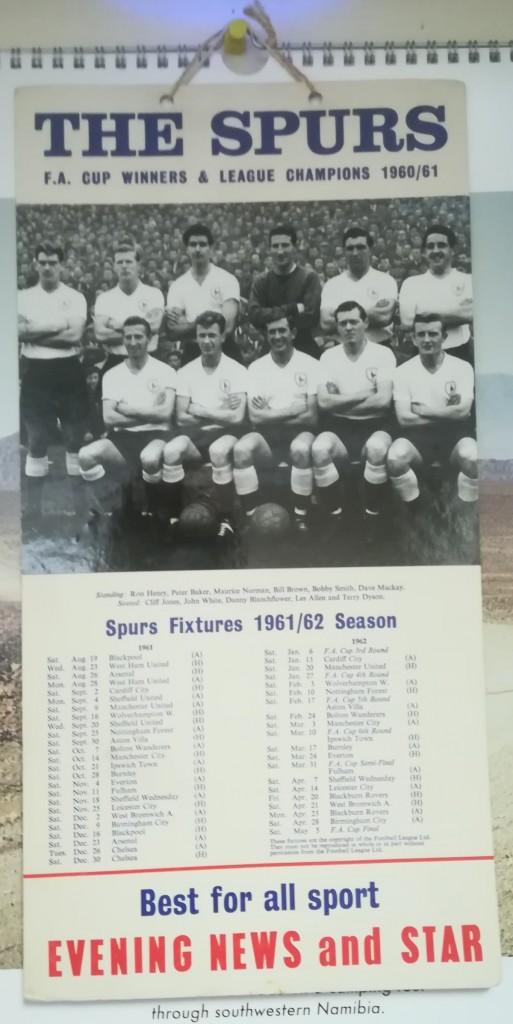 Tottenham Hotspur 1961-62 Fixture List