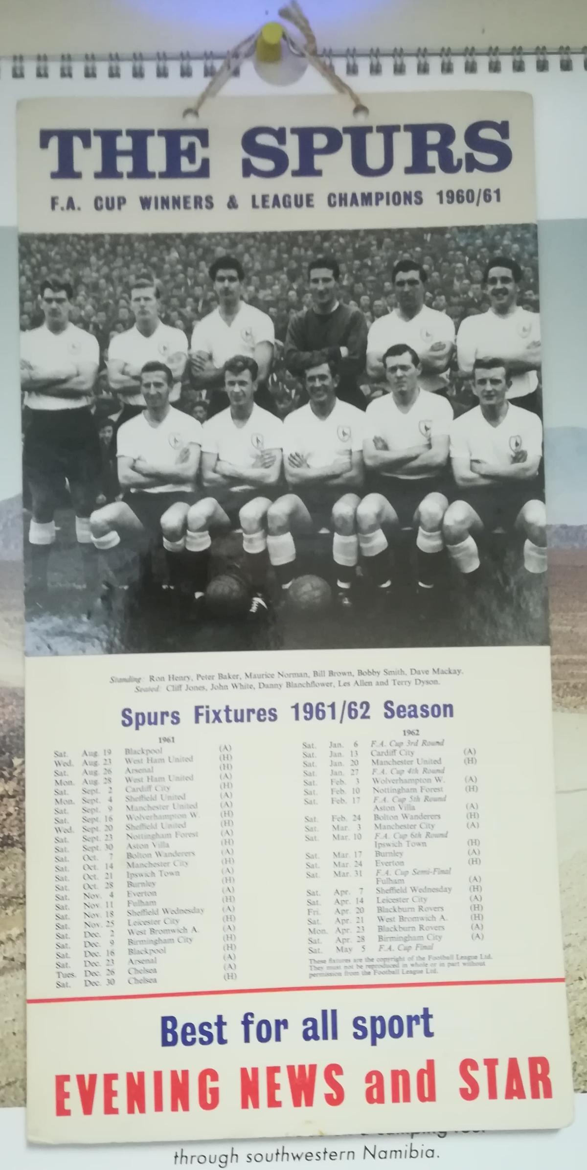 Tottenham Hotspur fixture list collector