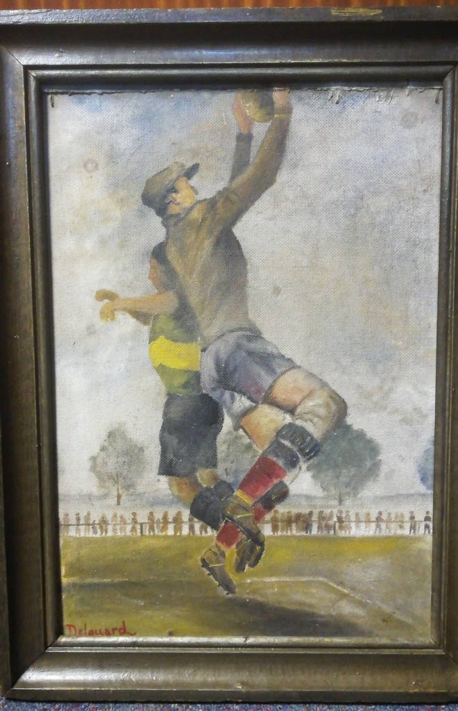 Football Painting by Delouard