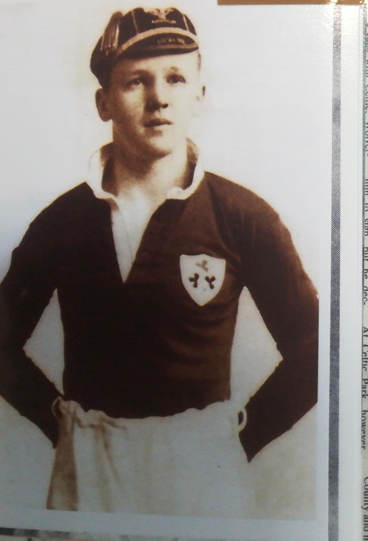 Davy Boy Martin Ireland Cap 1936-37 - Photo