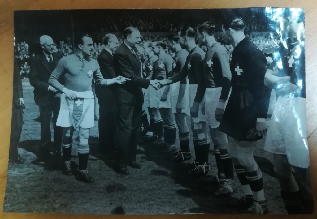 Switzerland vs England 1947 Press Photographs