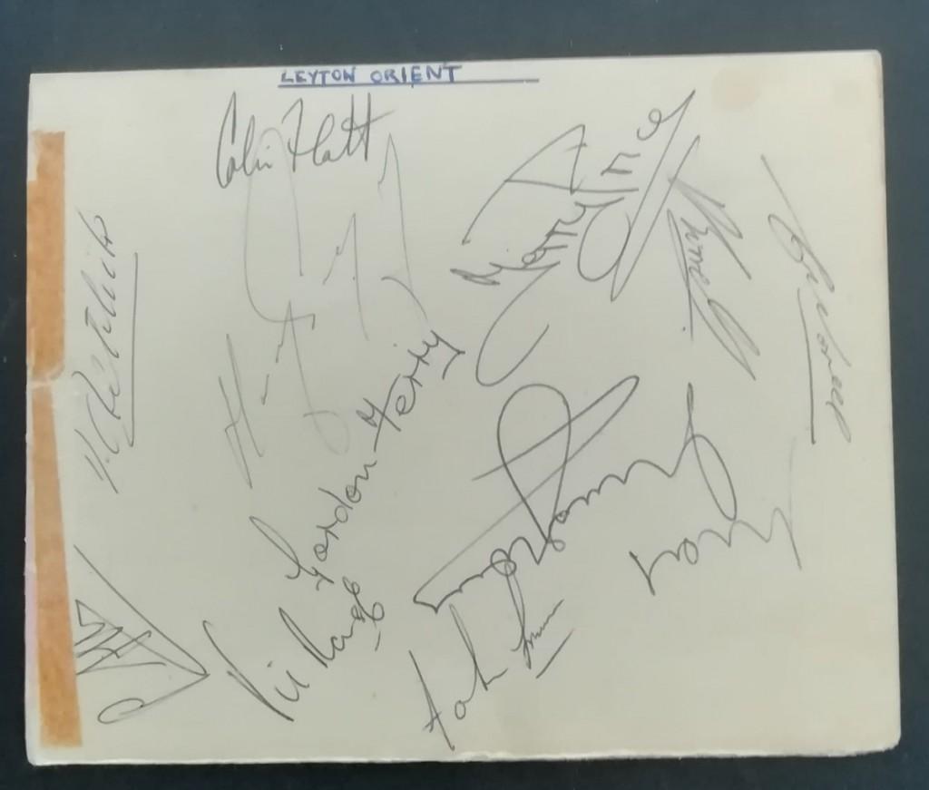 Leyton Orient Autographs 1965-66