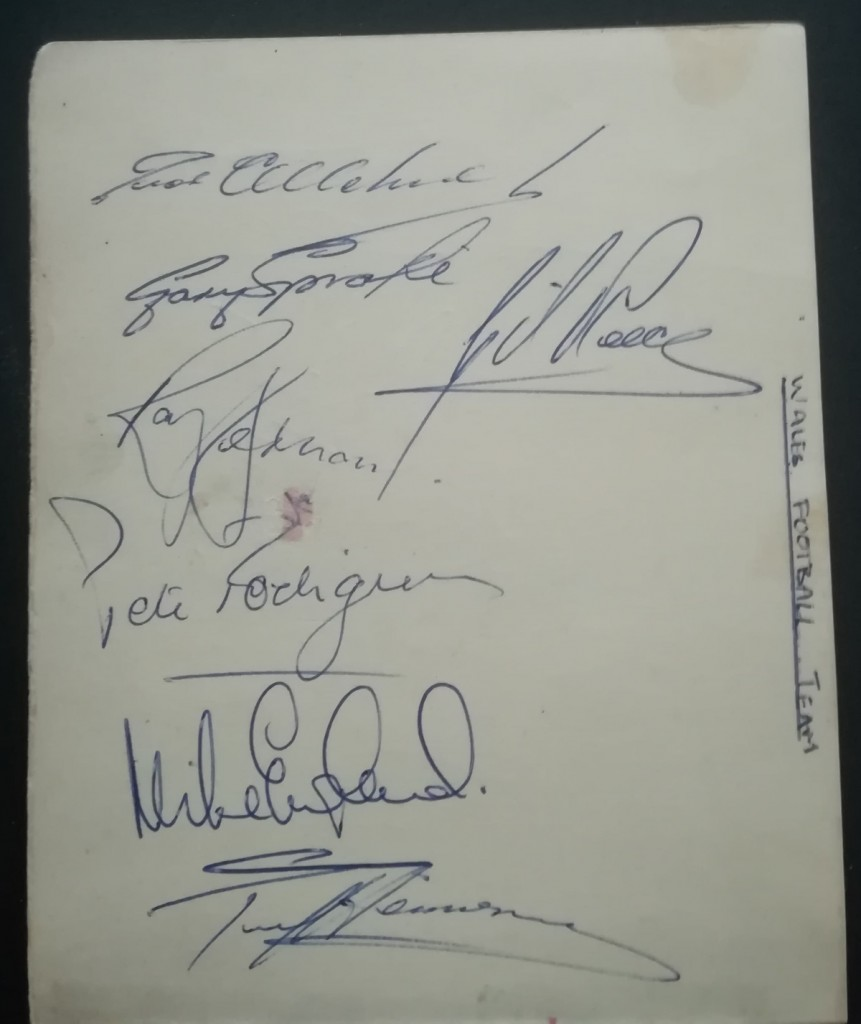Wales Autographs vs England - 2nd October 1965
