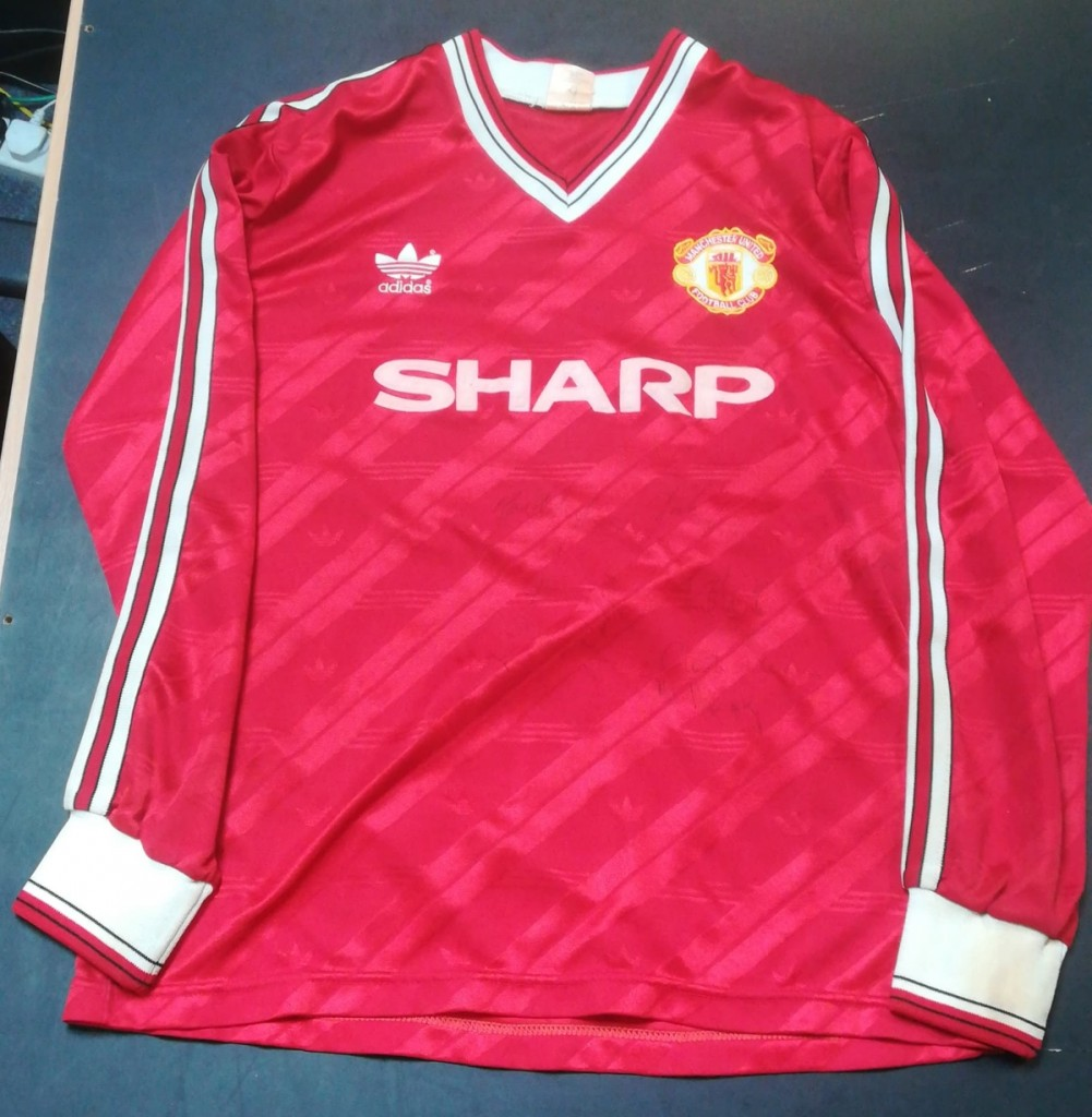 Manchester United Long Sleeve Matchworn - 1986 To 1988