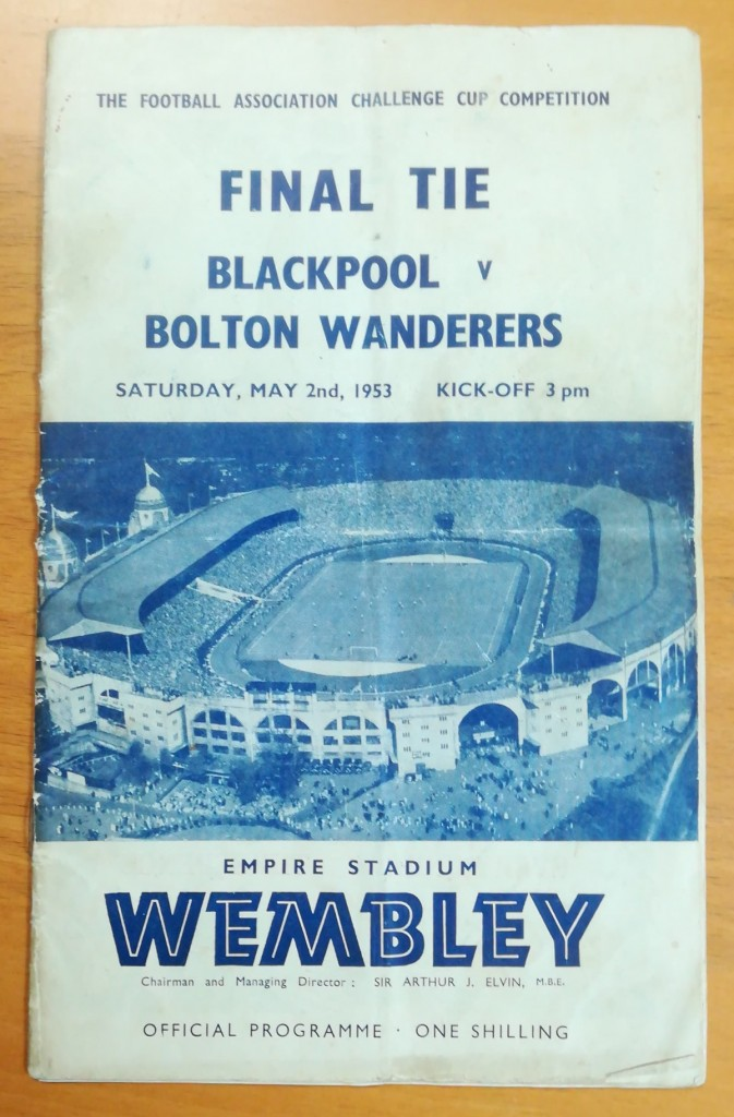 FA Cup Final 1953 Signed Programme