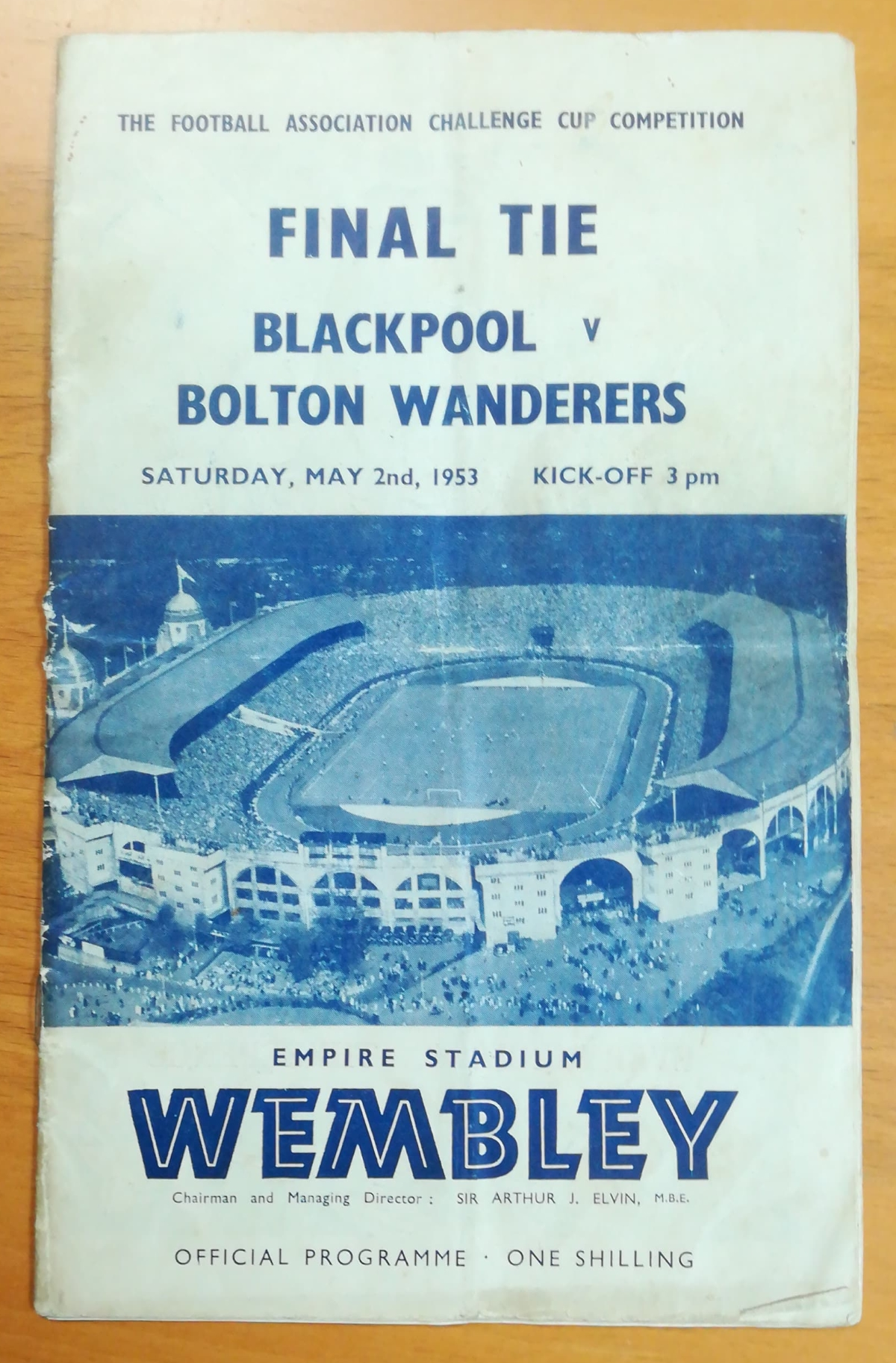 FA Cup final 1953 memorabilia collector