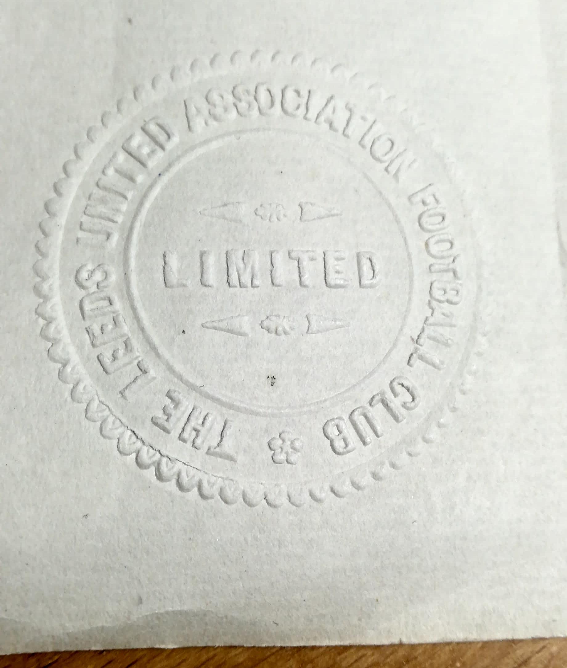Leeds United share certificate