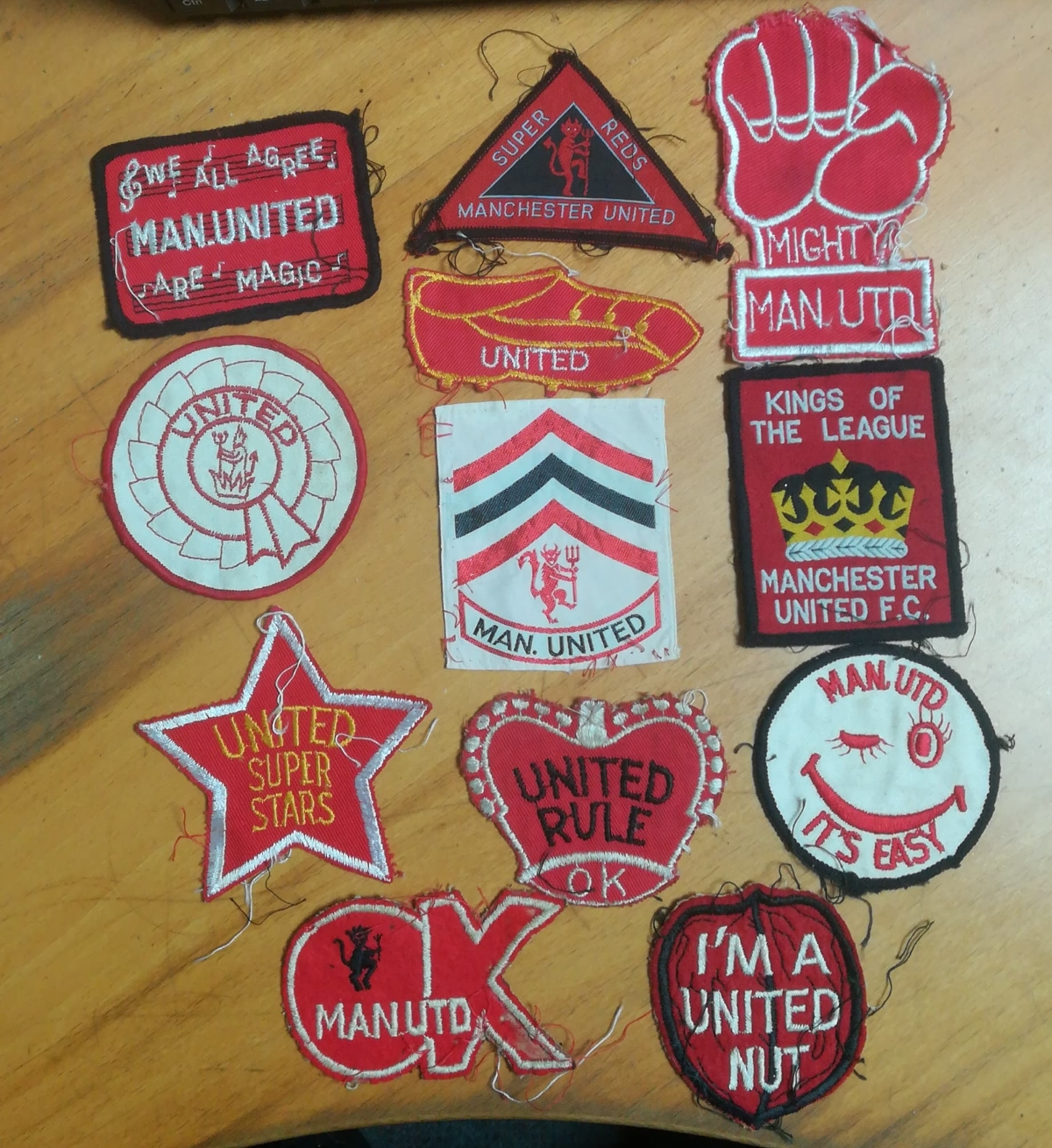 Manchester United badge collector