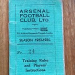 Pat Beasley Player Handbook - Arsenal 34 35 - Front