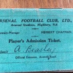Pat Beasley Player Handbook - Arsenal 34 35 - Rear