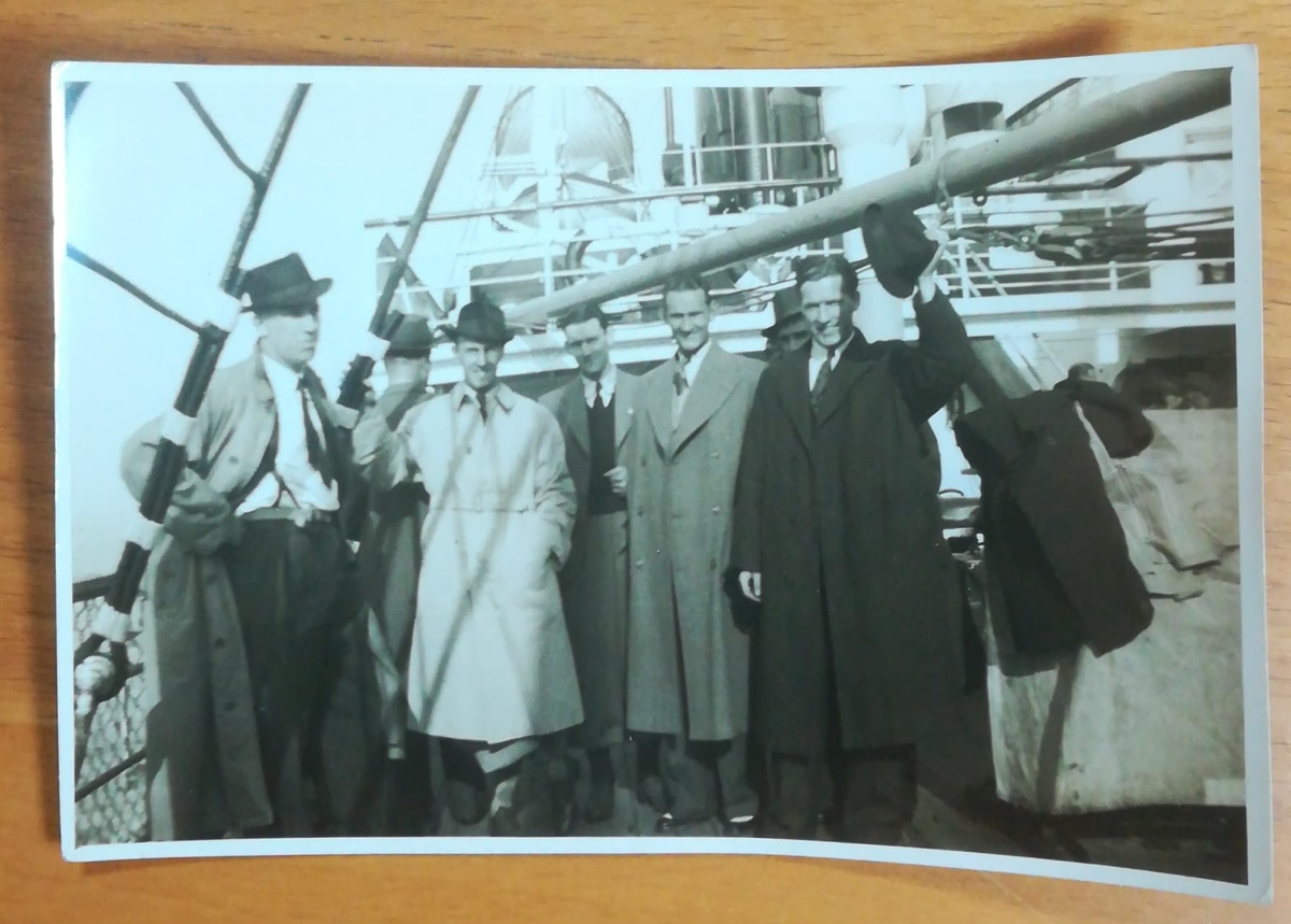 Sweden 1939 - On Boat At Harwich