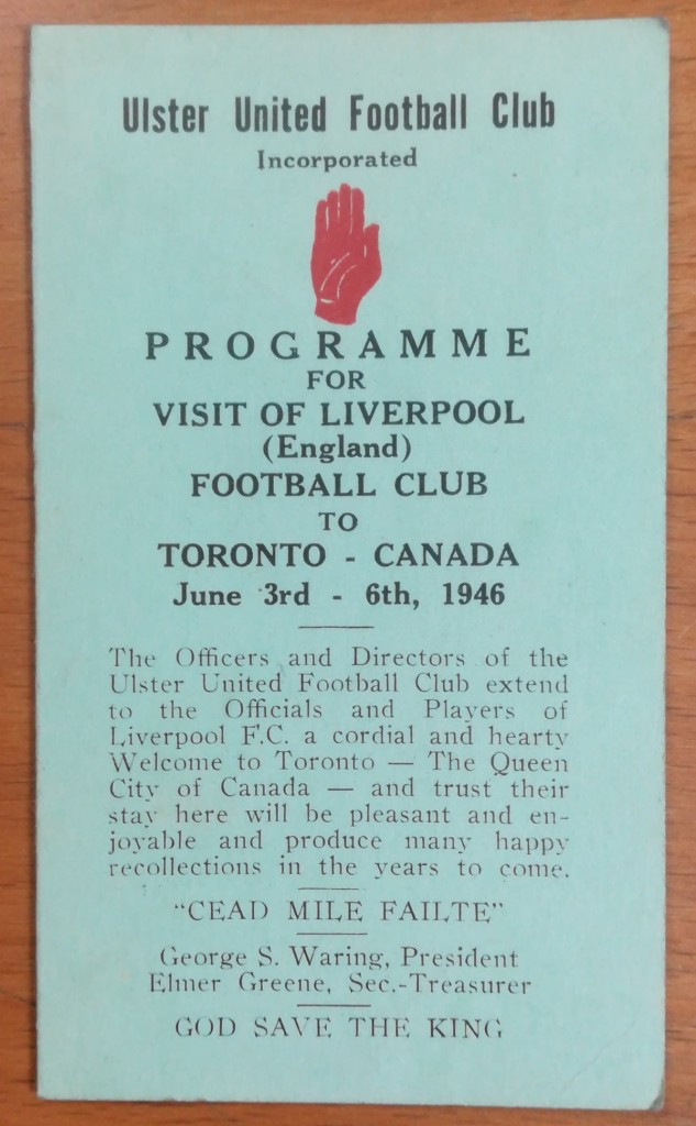 Liverpool FC Tour Itineraries - 1939 to 1951