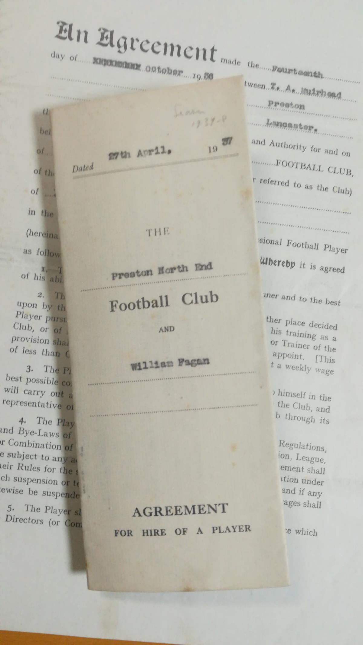 Willie Fagan - Preston Contracts x 2