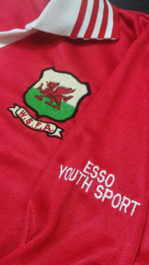 Brian Law - Wales Schoolboy Matchworn Shirt