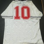 Nigel Jemson England U21 Matchworn Shirt - Rear