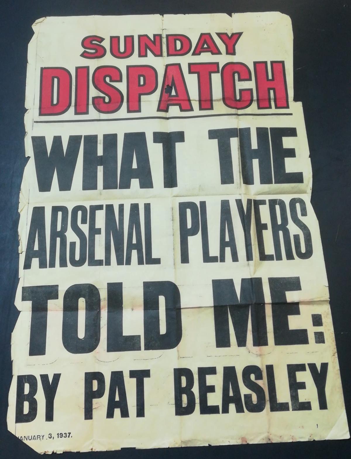 Pat Beasley - Newspaper Billboard Poster