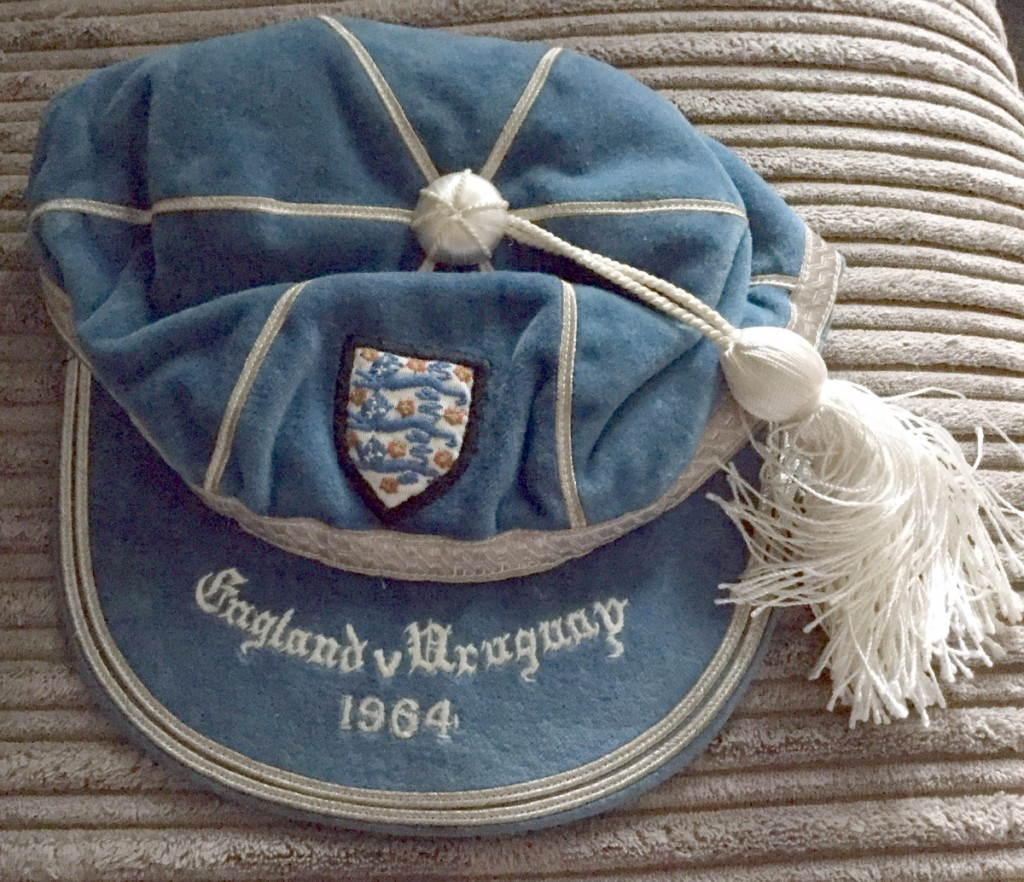England vs Uruguay 1964 International Cap
