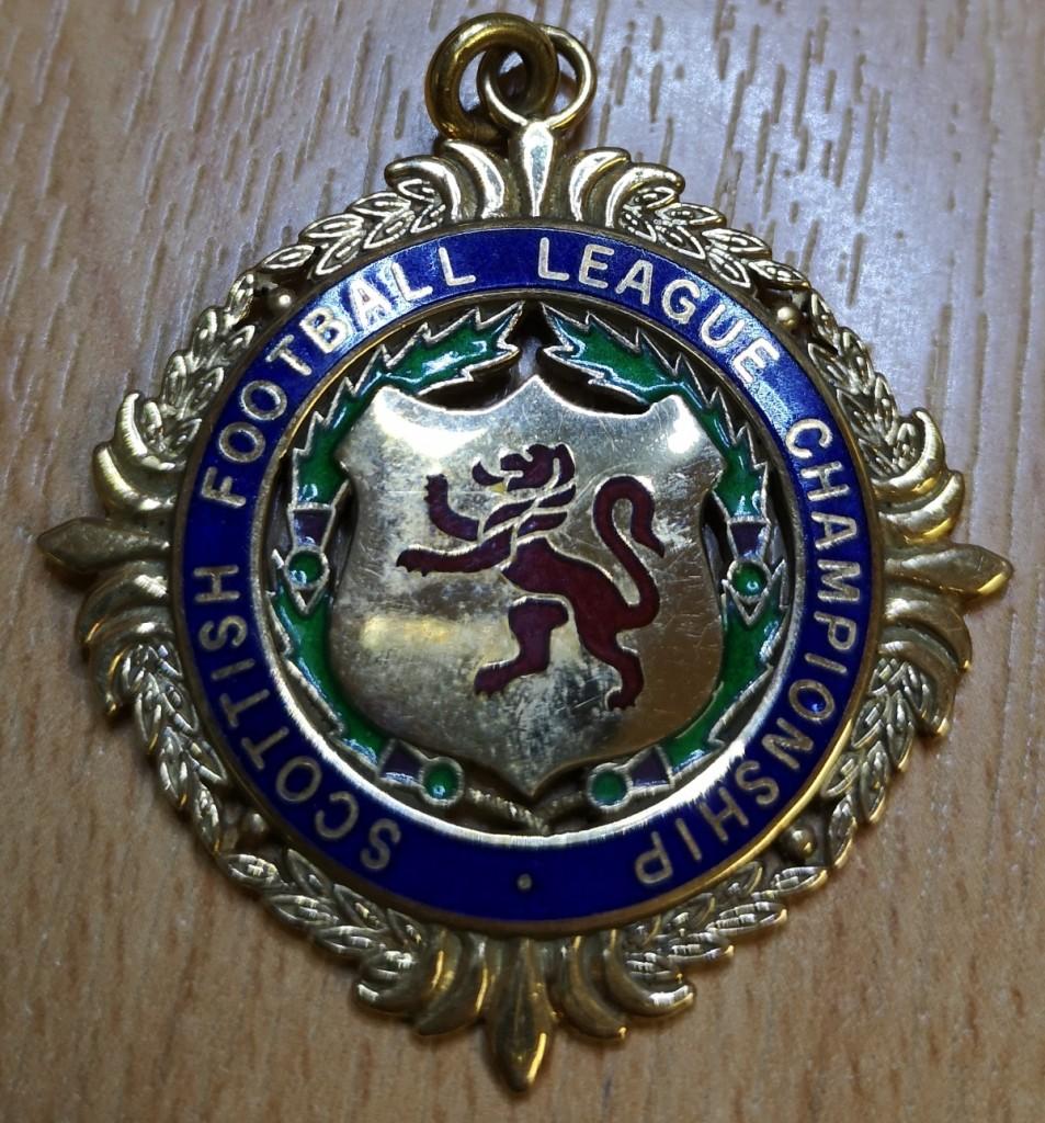Scottish 1st Division Winners Medal - 1991/92