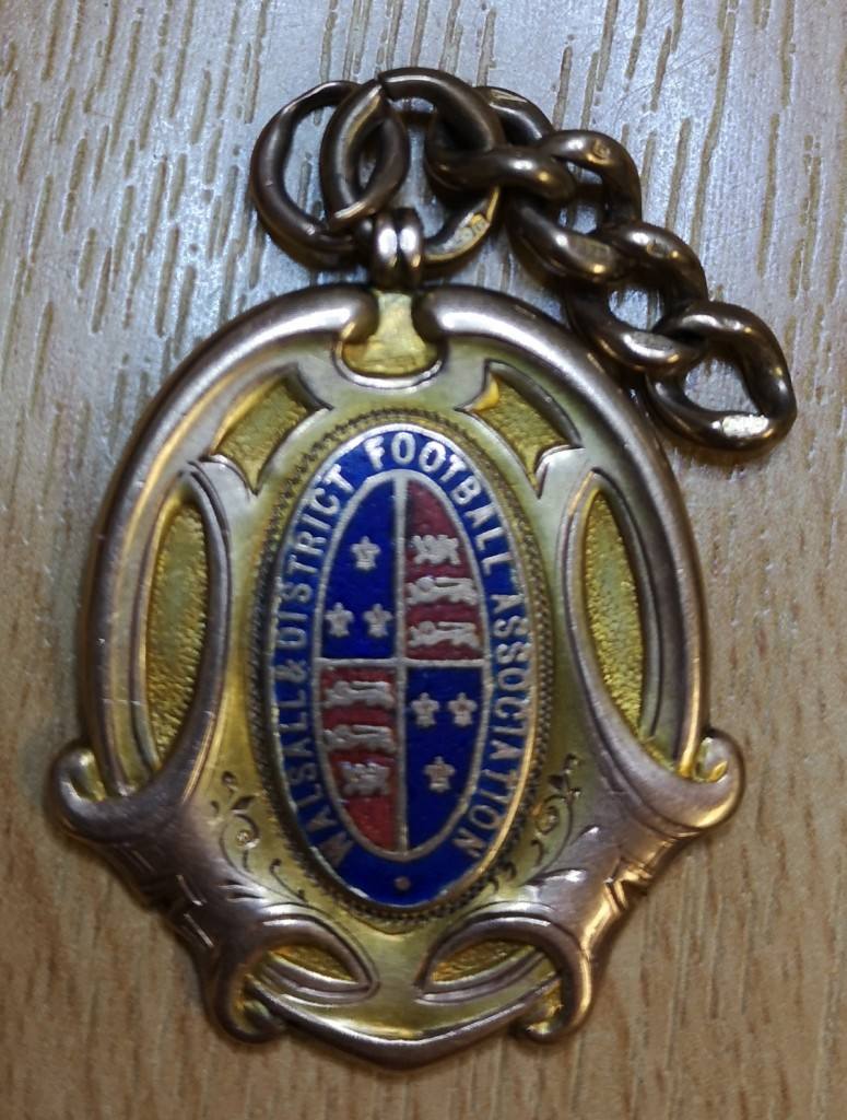 Walsall & District Challenge Cup Winner's Medal c.1908