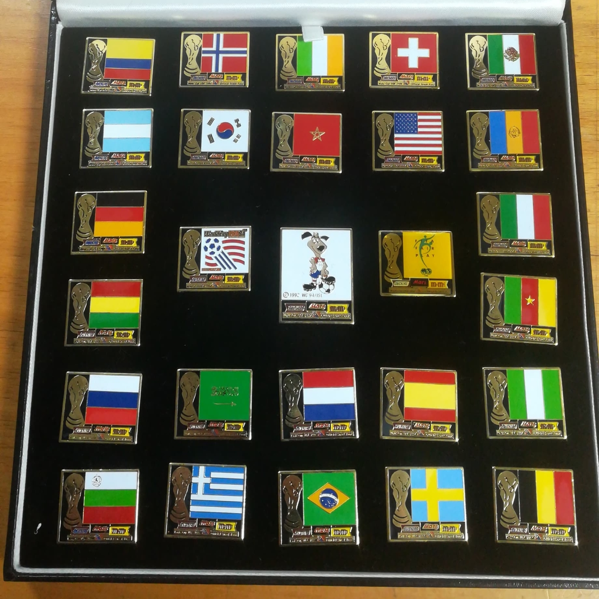 World Cup badge collector