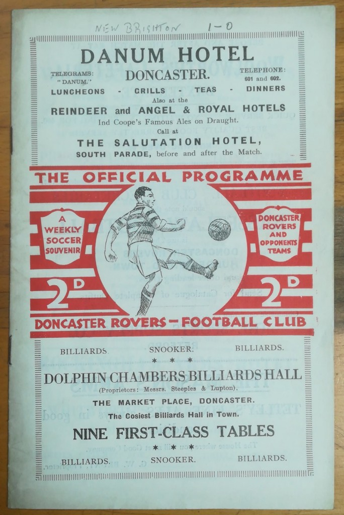 Doncaster Rovers vs New Brighton Programme