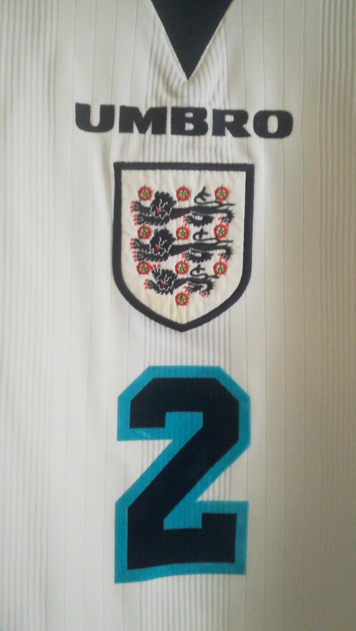 Gary Neville - England v Scotland Euro 96 - Front Close