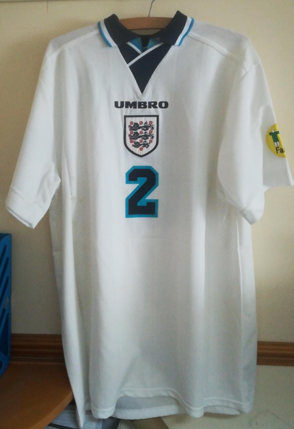 Euro 96 matchworn shirt collector