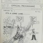 Ipswich Town vs Torquay United 1938- Cartoon