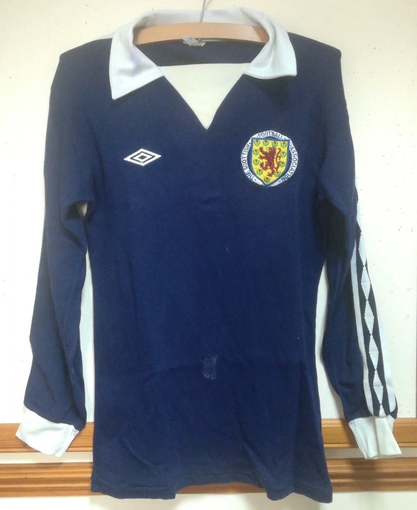 Kenny Dalglish - Belgium vs Scotland 1979 Matchworn