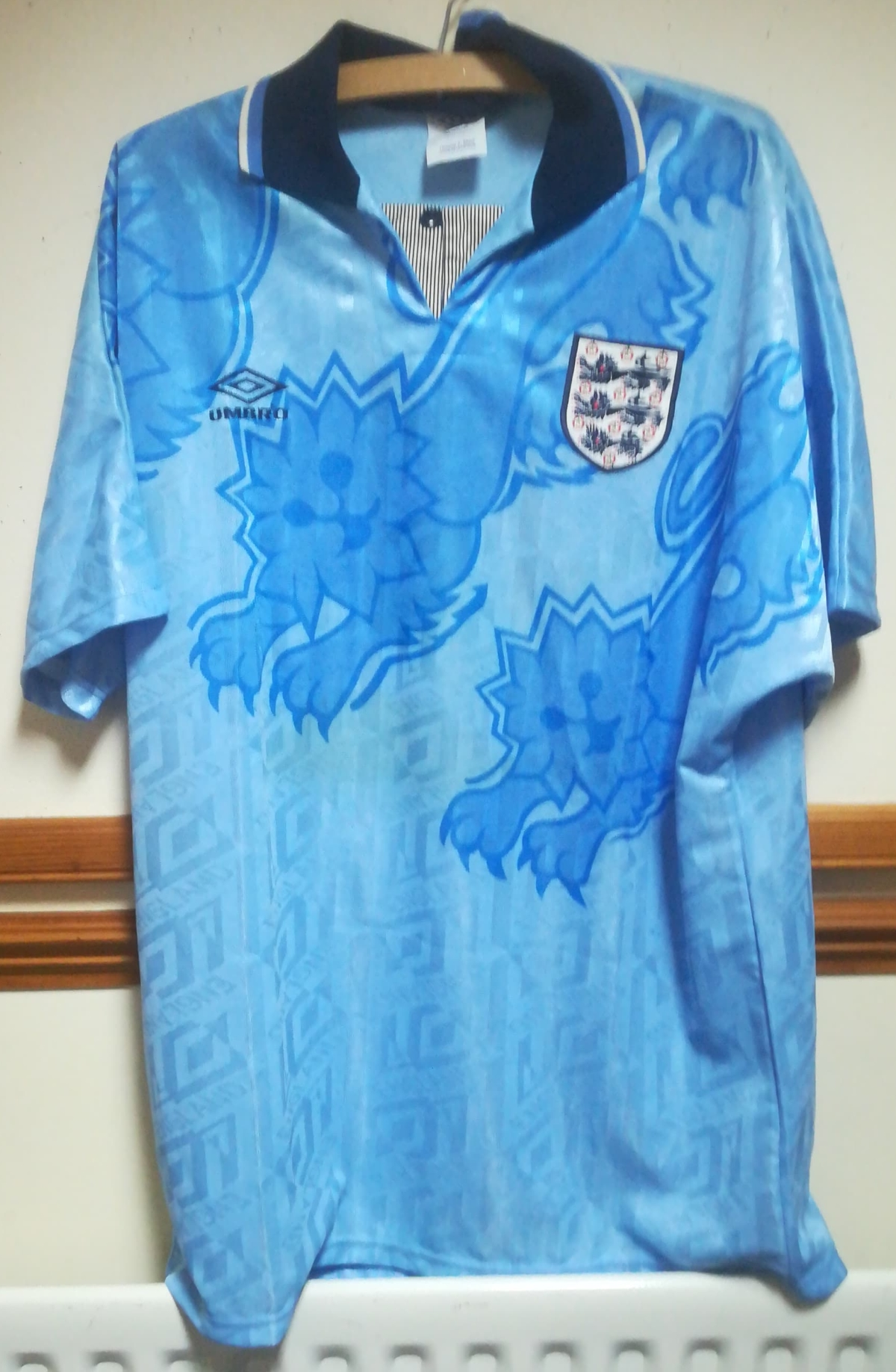 England matchworn shirt collector values