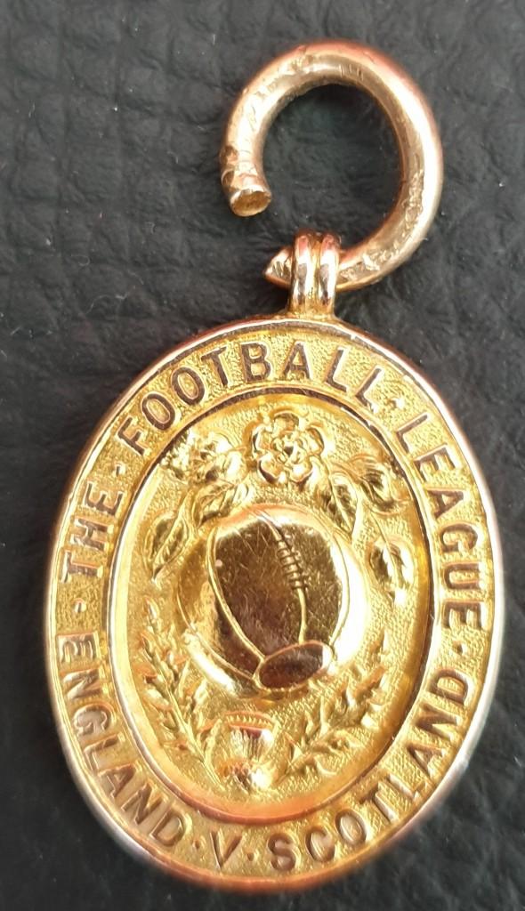 Jimmy Ashcroft - England v Scotland 1906 Medal