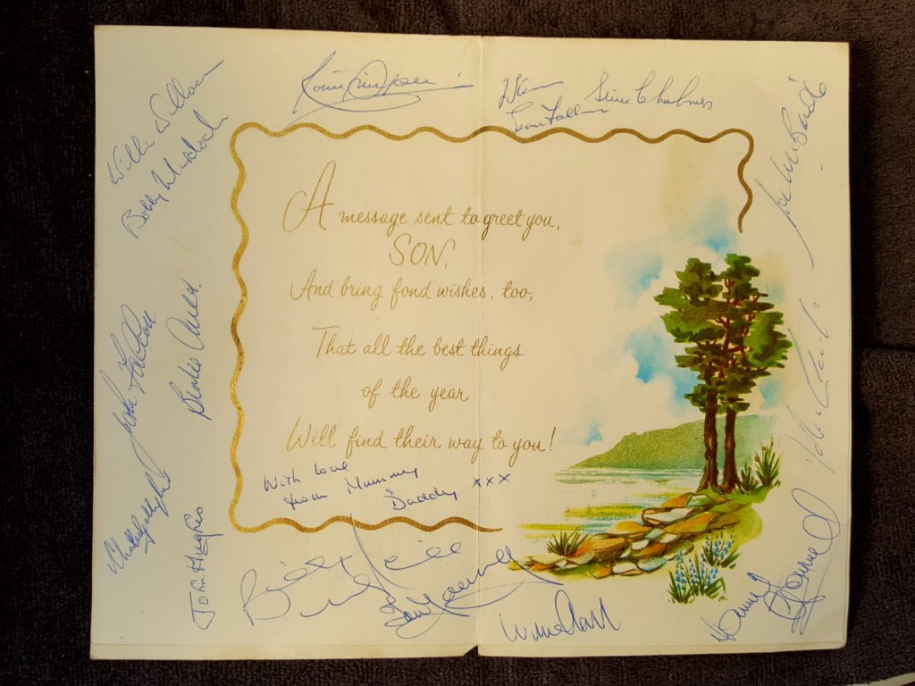Lisbon Lions Signed Birthday Card, 1967