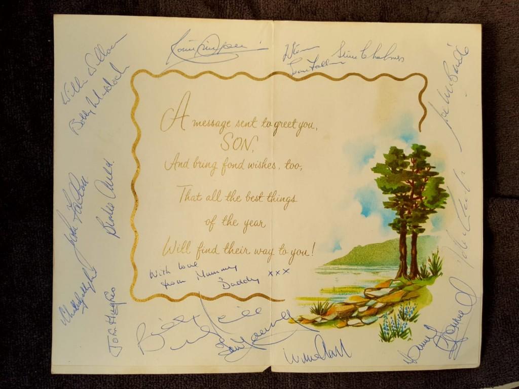 Lisbon Lions Signed Birthday Card, 1967