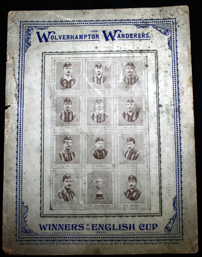 1894 FA Cup 1st Round Official Programme