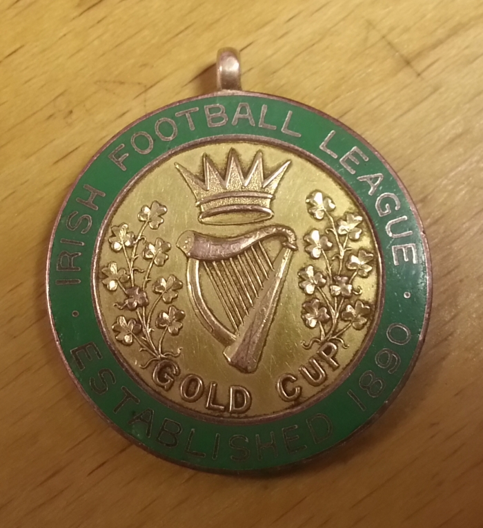 1915 Irish Gold Cup Winners Medal - A, Devine. Shelbourne