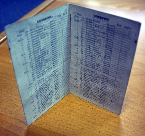 Merseyside Fixture List 1923/24 Season