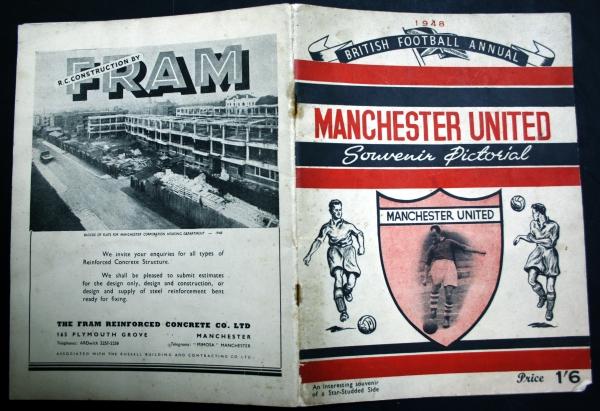 1948 Manchester United Souvenir Pictorial - British Football Annual