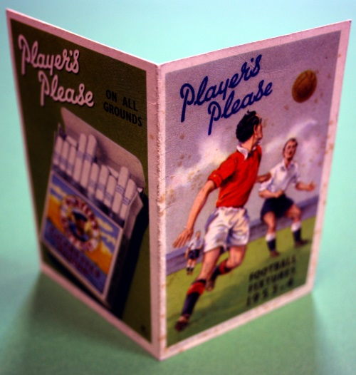 Players Cigarettes 1953/4 Manchester Fixture List