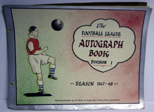 Artist Drawn 1947/8 Football League Autograph Book