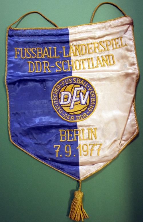 East Germany v Scotland 1977 Handover Pennant